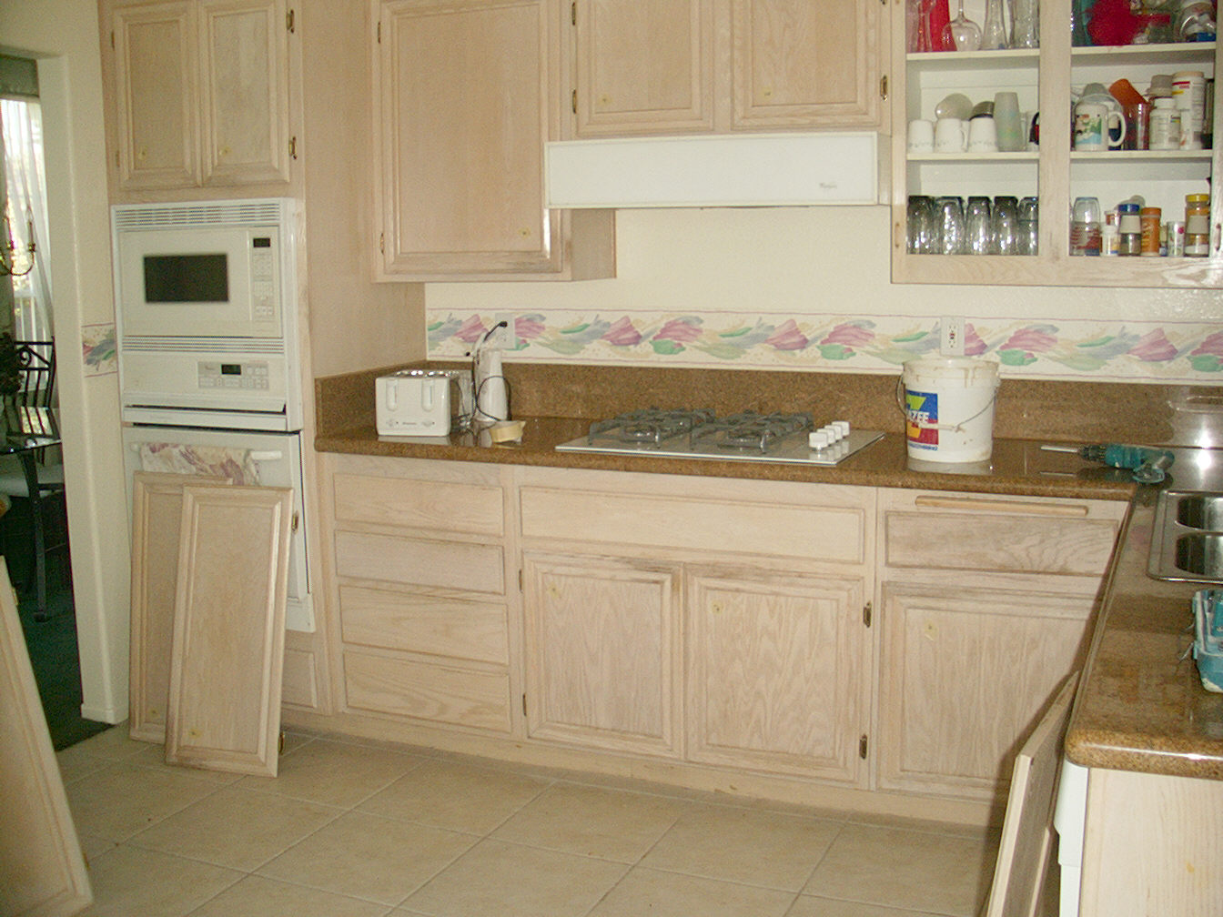 Kitchen Cabinets Stain Colors Painting Stained Cabinets White Janefargo